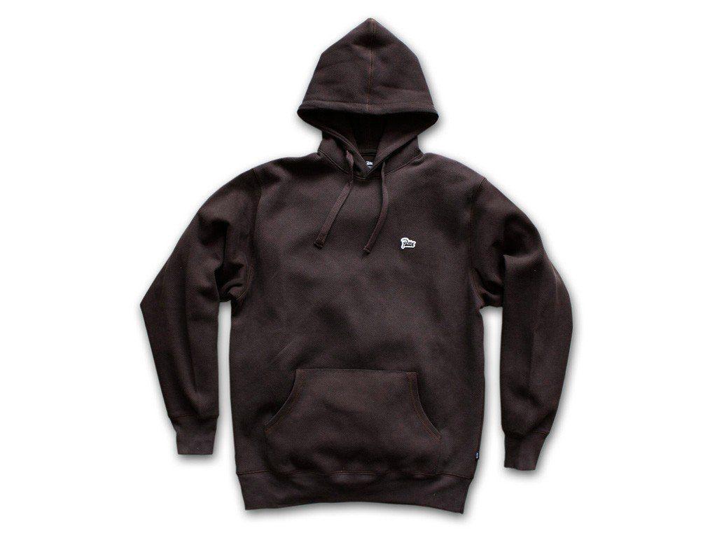 Patta Logo Heavy Pique Hooded Sweater (Black Coffee) - PATTA FALL ...