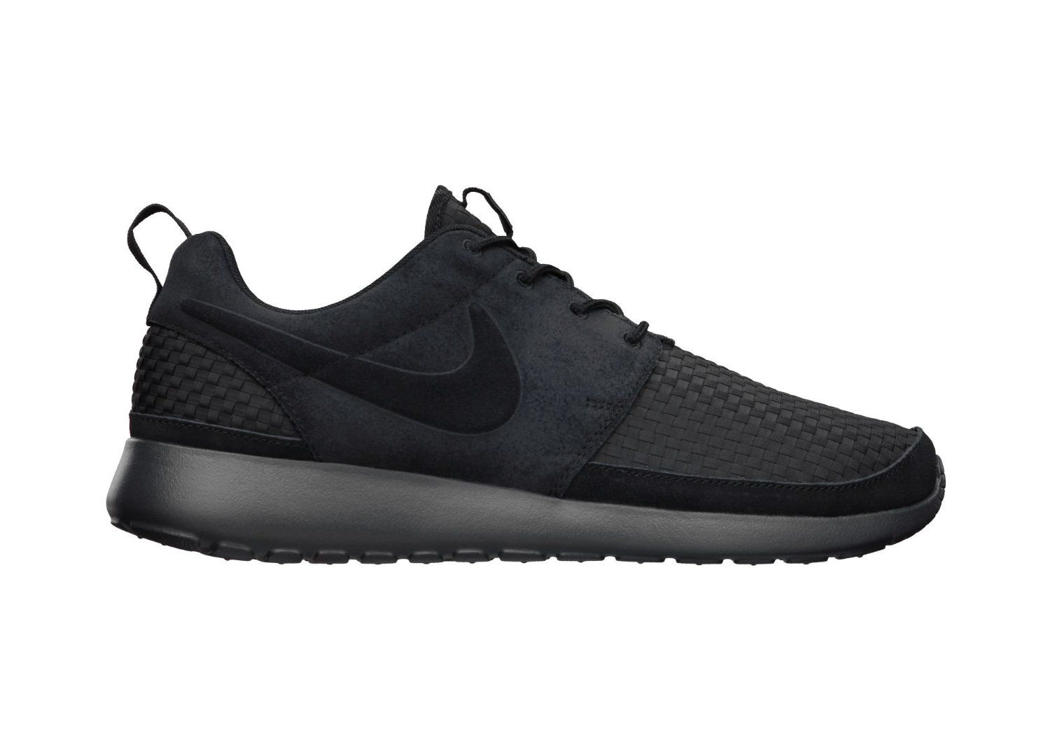 finest selection 93ebb 8d437 ... where can i buy amazon nike mens roshe run woven black 555602 001 shoes  ad727 1367a