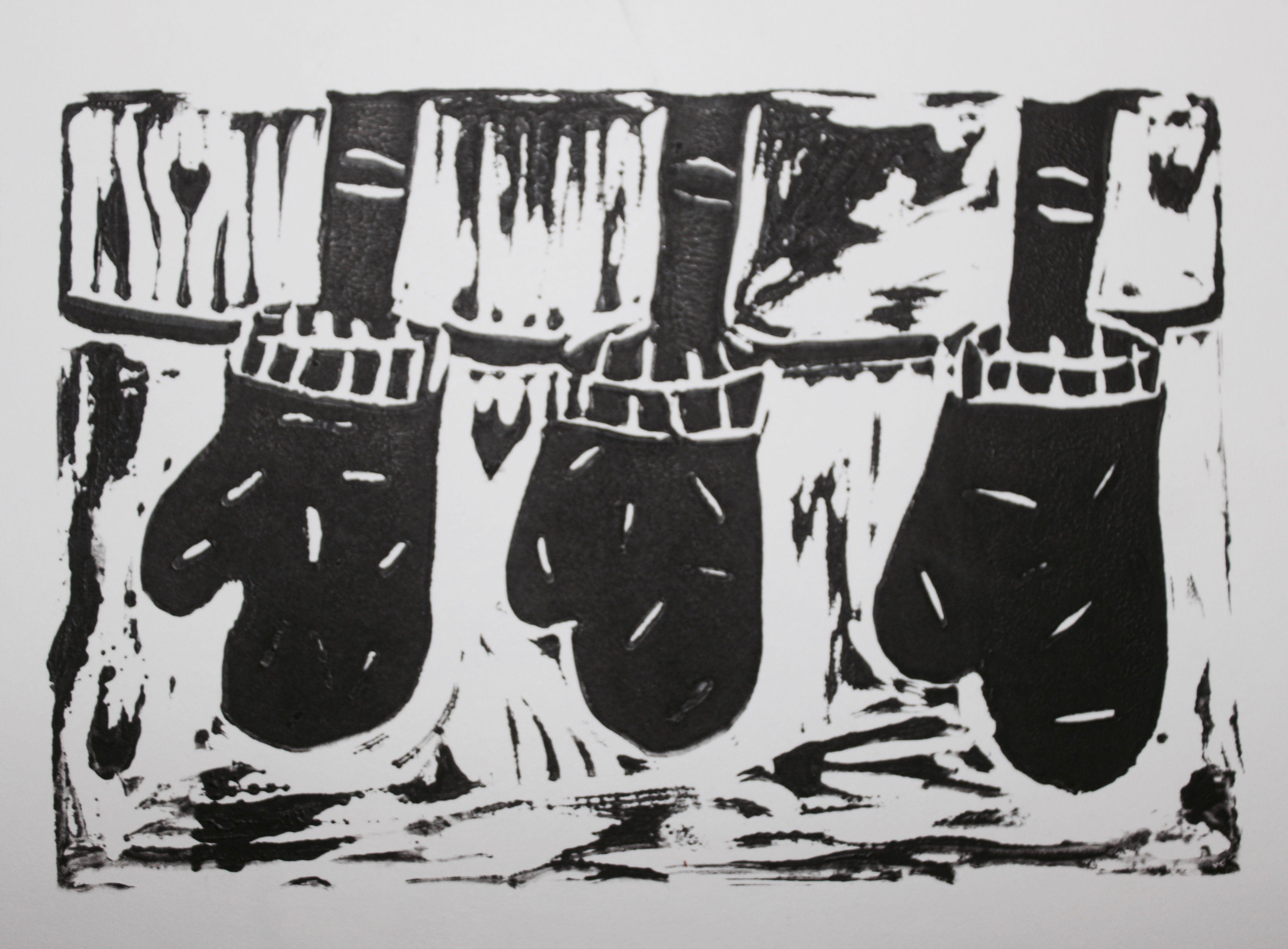 Grade seven printmaking