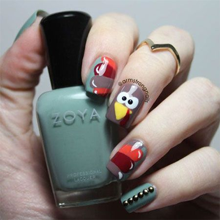 18 Turkey Nail Art Designs Ideas 2016 Thanksgiving Nails 4 Nails