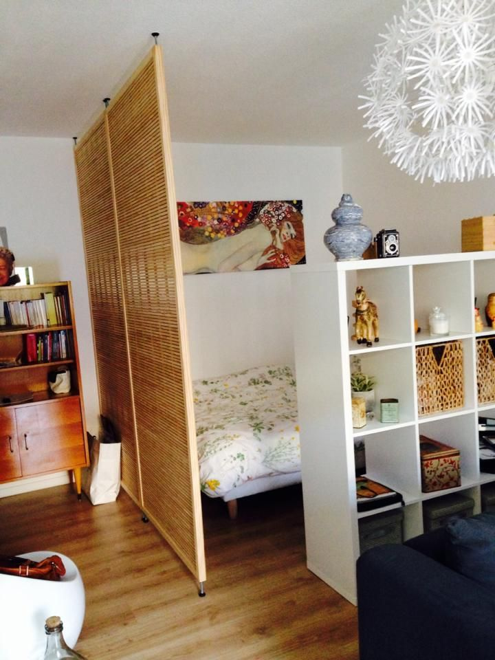 Petit Appartement Separation Leroy Merlin Ikea Pour Le Meuble Idees Small Appartment Room Divider Studio Apartment Decorating Simple Room Apartment Room