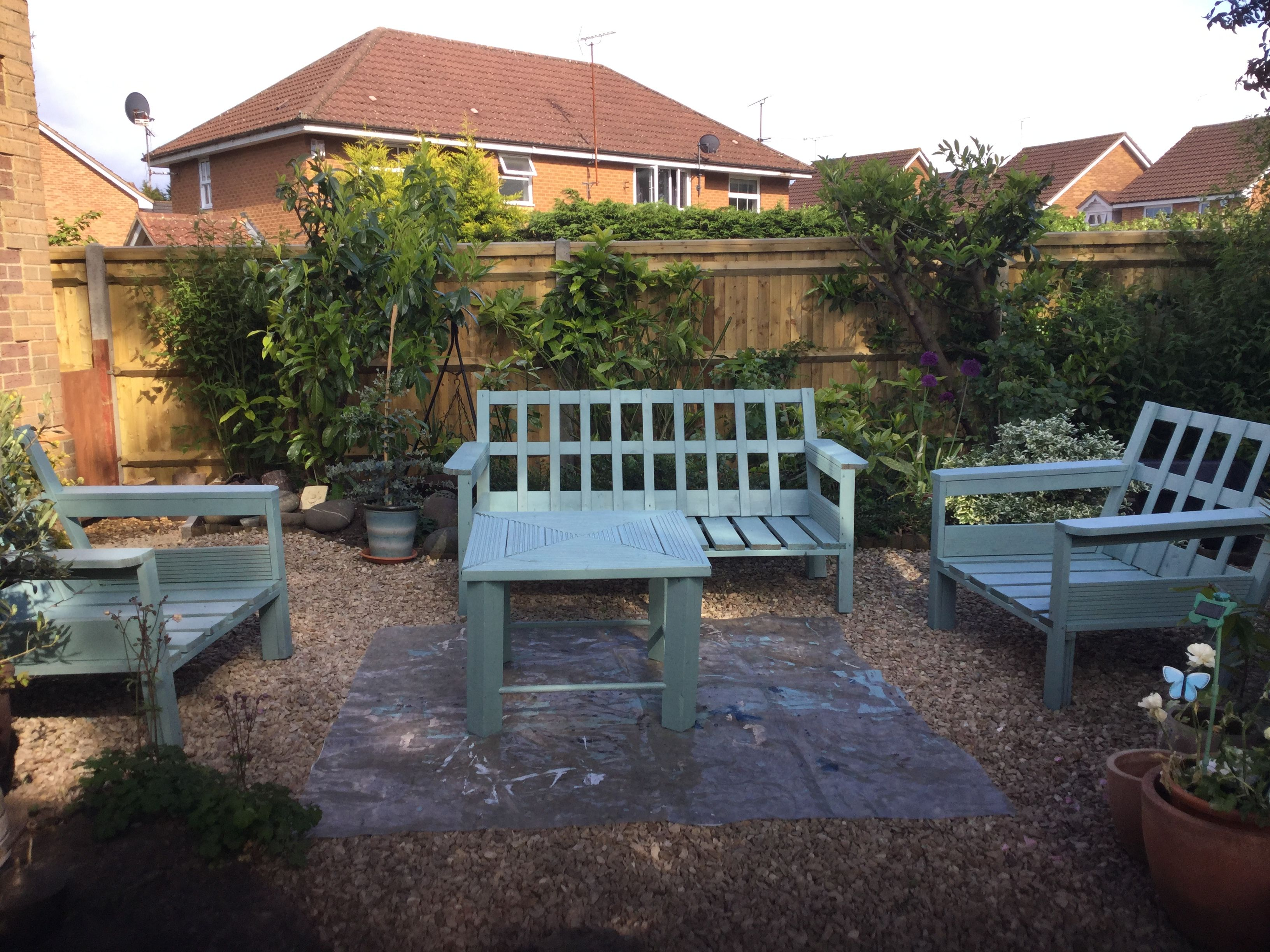 Repainted garden furniture