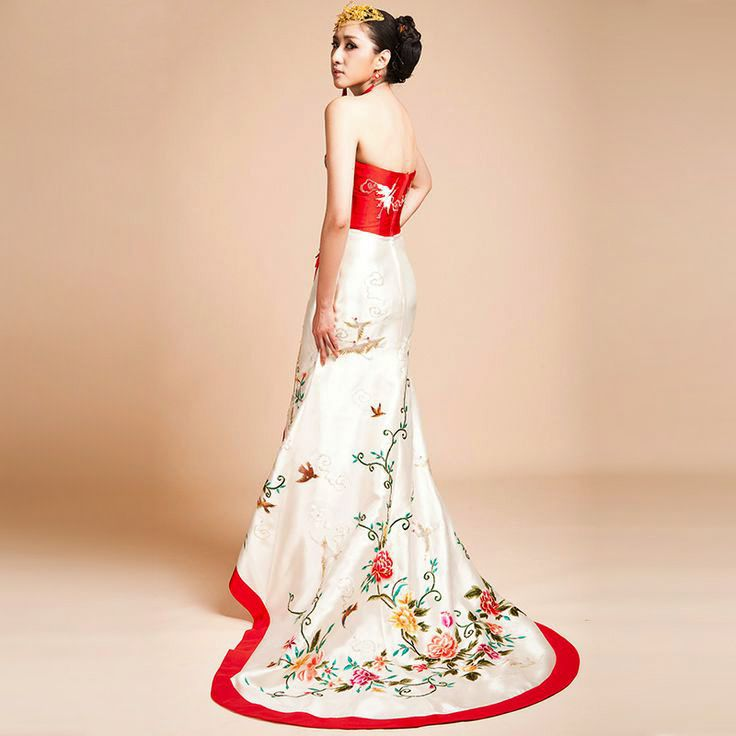 Chinese inspired wedding dress images for Asian red wedding dresses