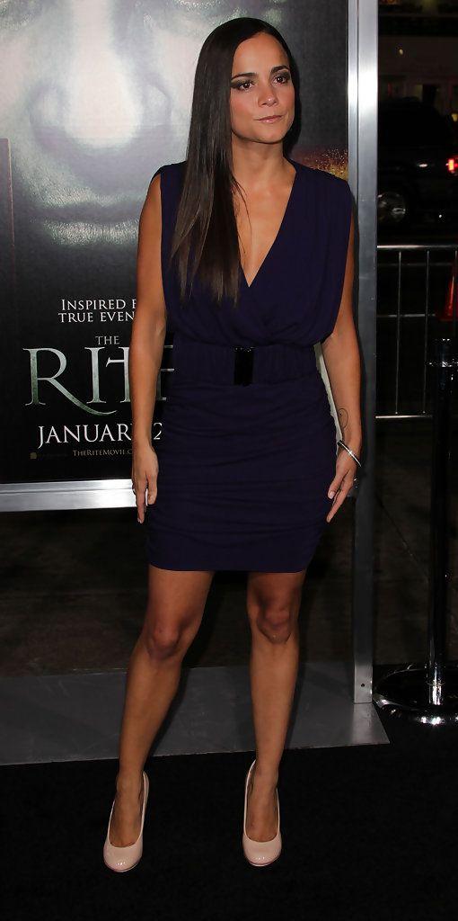 Alice Braga Fashion Celebrities Female Little Black Dress