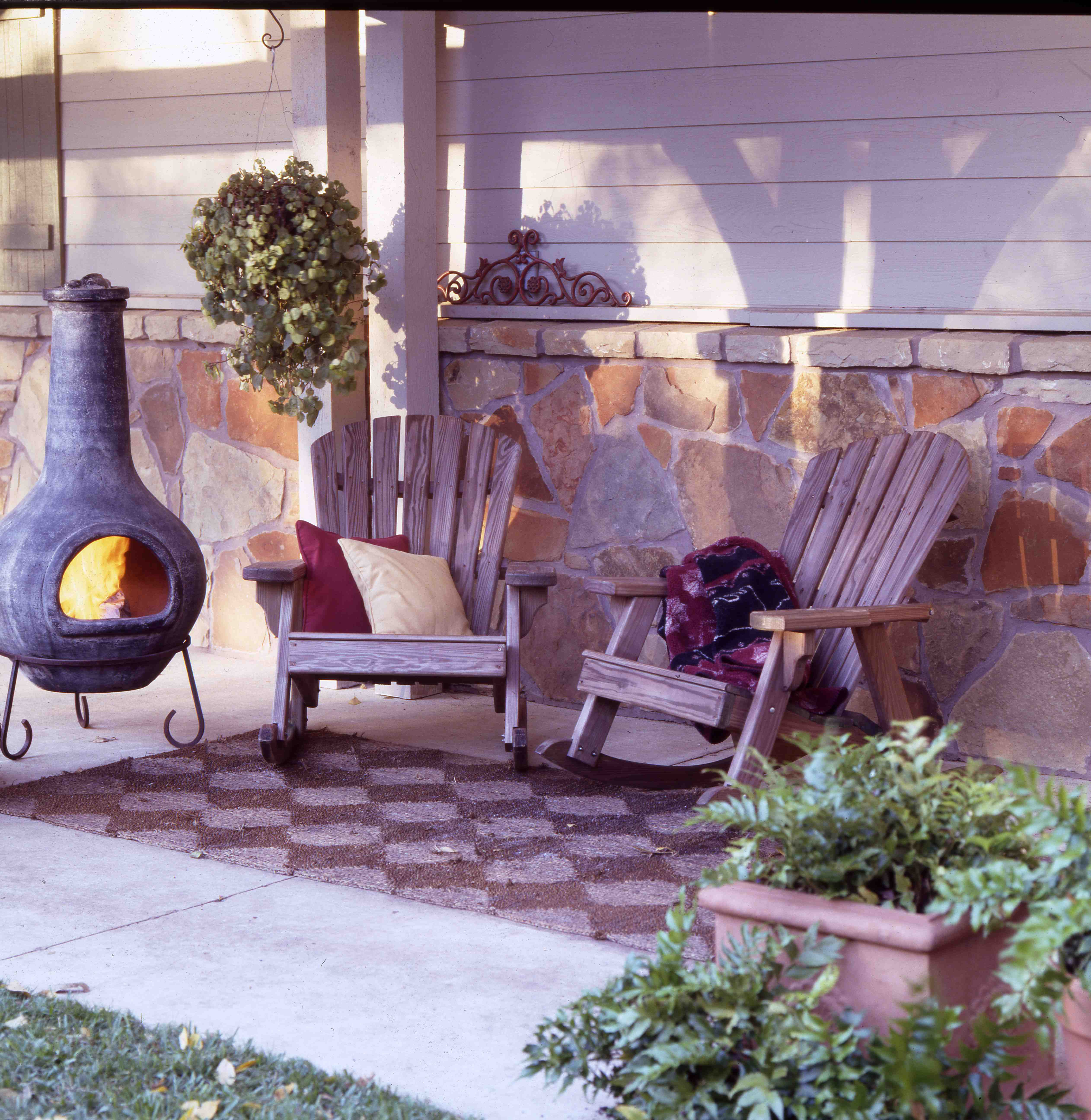 a chiminea is a small outdoor fireplace often made of clay treat