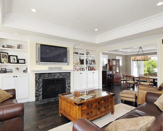 Tray Ceiling Family Room Google Search Craftsman Living Rooms