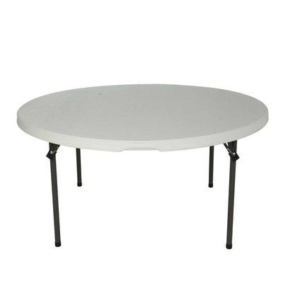 Lifetime 60 Round Folding Table Finish White Granite