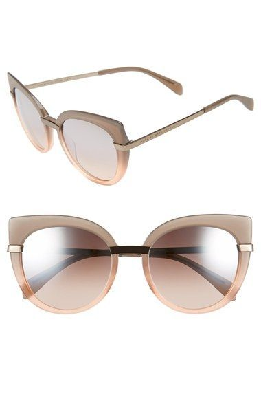 67344a4a43 MARC by Marc Jacobs gray to rose pink fade cat eye sunglasses