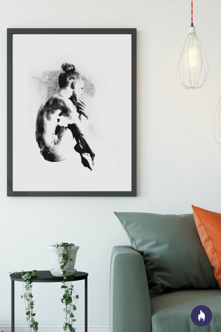 Beautiful black & white art print that will stand out in a modern ...