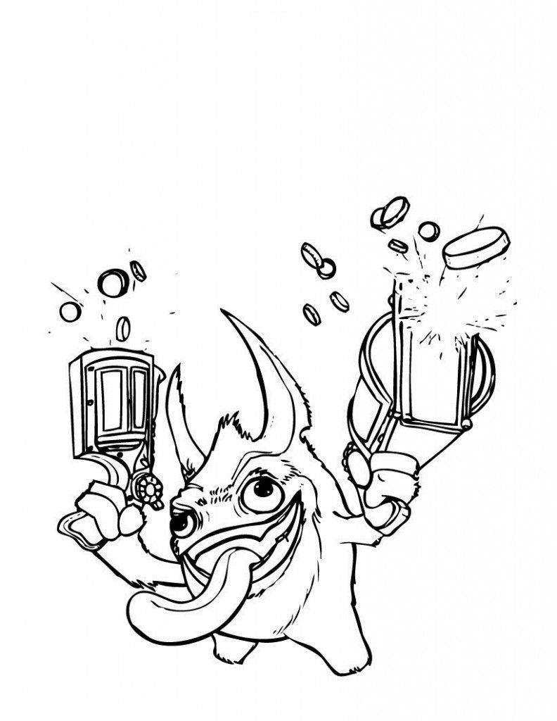 Free Printable Skylander Giants Coloring Pages For Kids Coloring