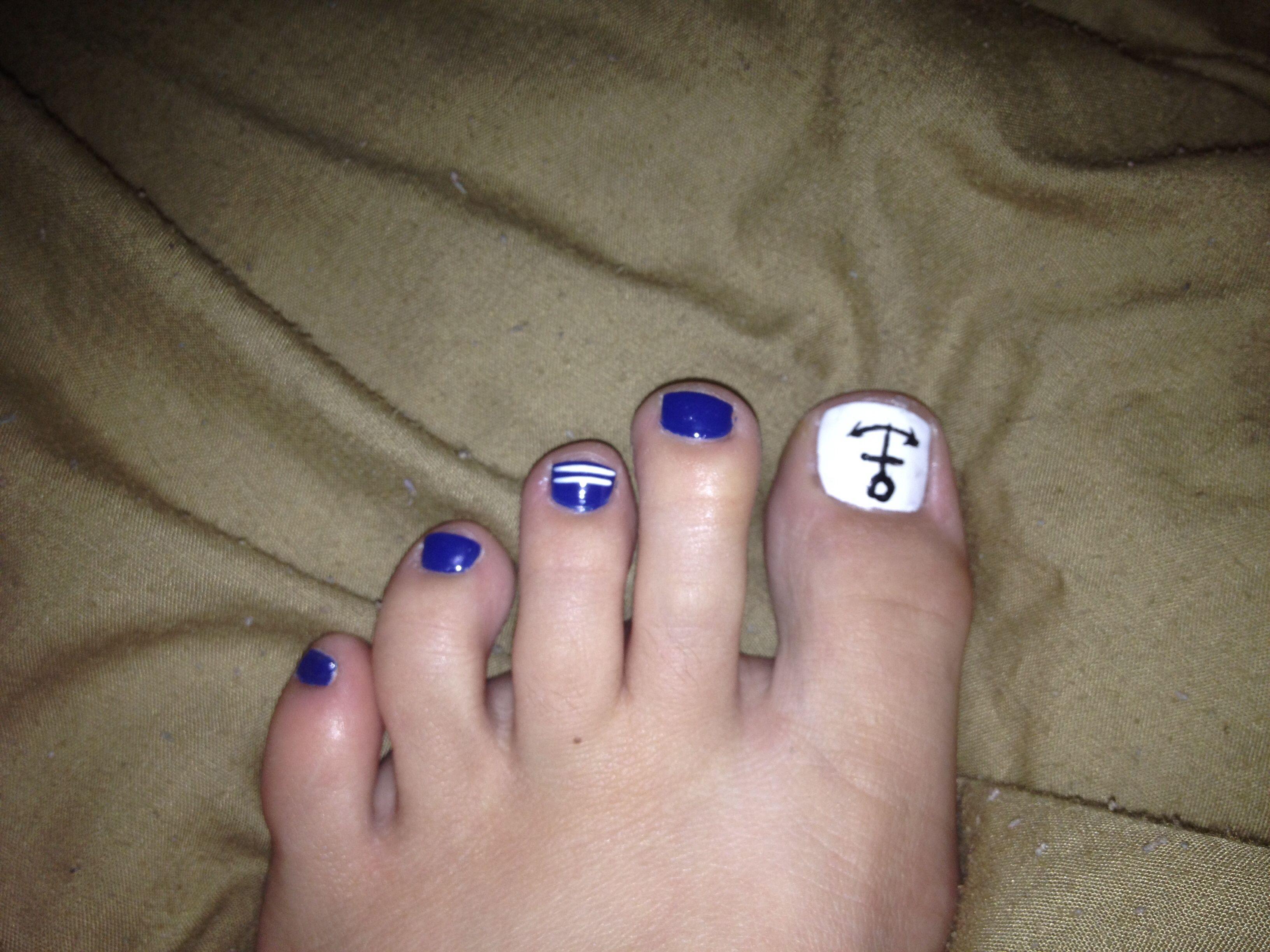 Nail Designs Nail Art Pedicure Nautical Nautical Toes Nails