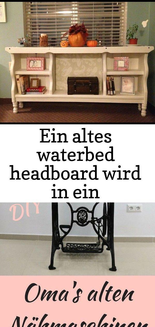 Ein altes waterbed headboard wird in ein bücherregal eingeschaltet  dies ist so eine nette idee 50 EIN ALTES WATERBED HEADBOARD WIRD IN EIN BÜCHERREGAL EINGESCH...