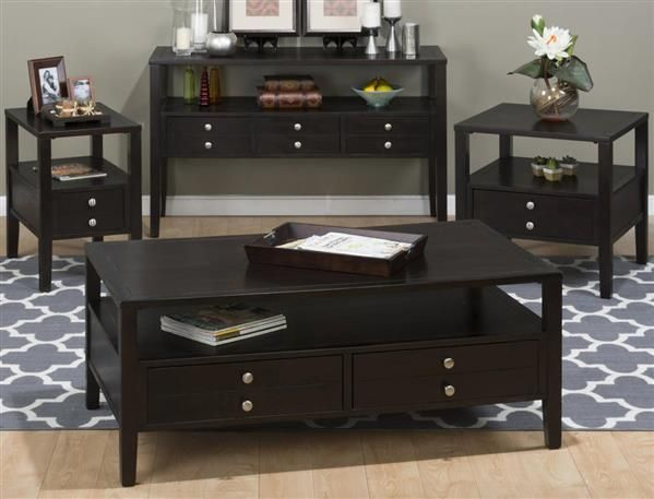 Hamilton Contemporary Espresso 3pc Coffee Table Set