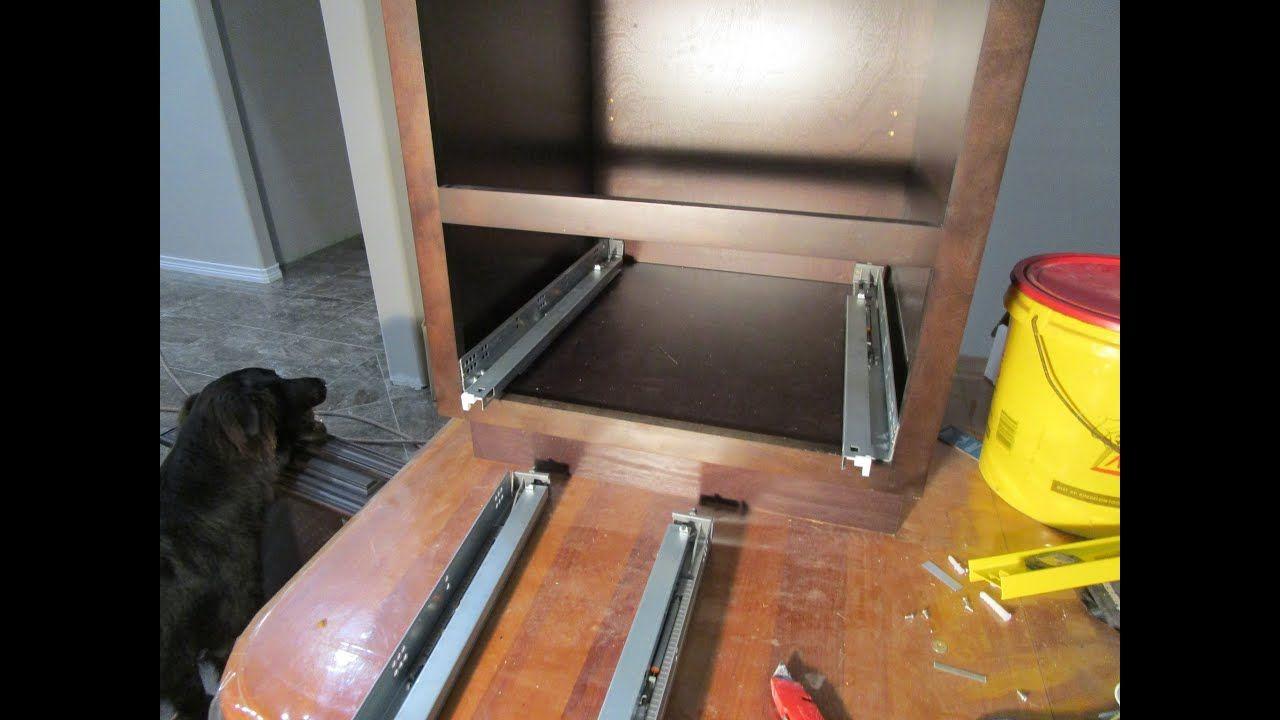 Installing DTC Cabinet Drawer Slides in Island Kitchen ...