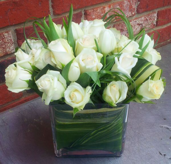 White Roses And Tulips From The Bloom Closet Florist In