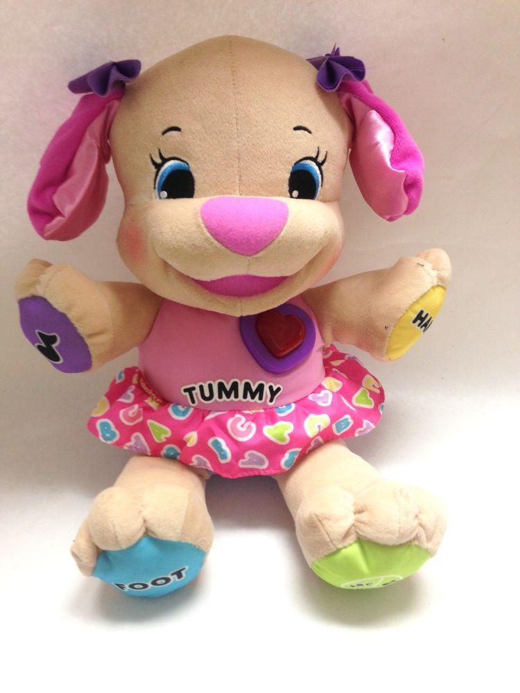 Fisher Price Laugh And Learn Pink Dog Puppy Talking Plush Musical