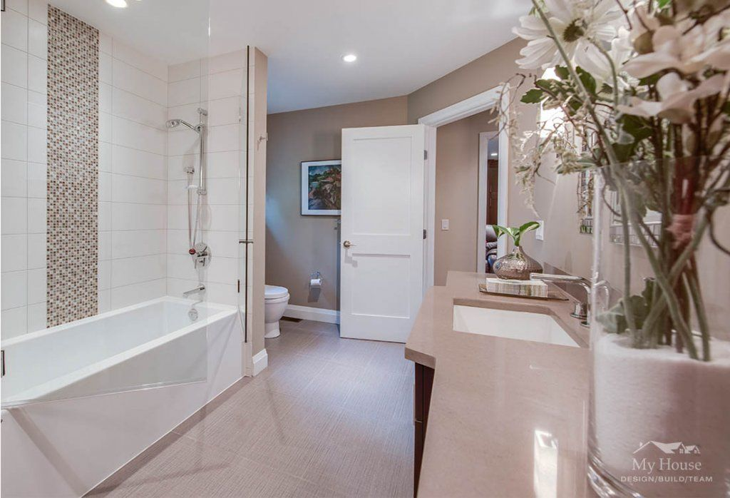 North Vancouver Renovations Coveside Gem My House Design Build - Bathroom expansion before and after