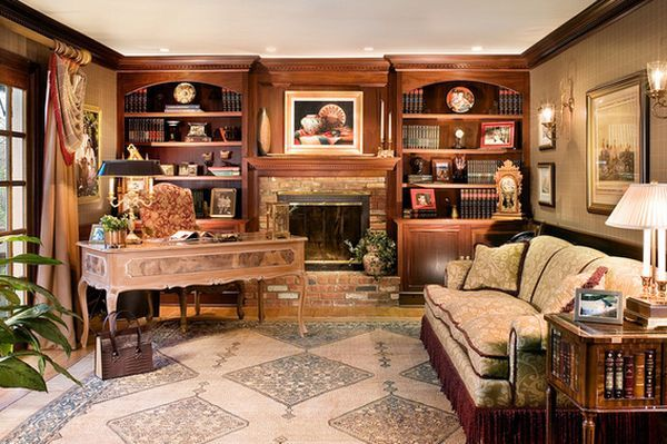 Home Office Library Elegant Style