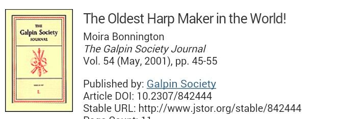 About harp making ancestors in London | Lecture, Harp ...