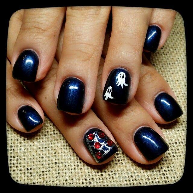 Halloween nail art | Elegant nails, Halloween nail art ...