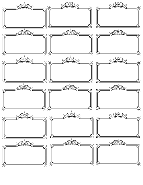 Versatile image with regard to name labels printable