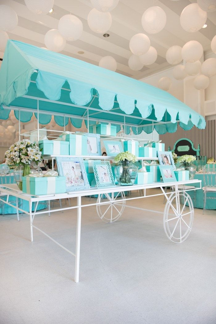 a322c6338b Partyscape cart from Breakfast at Tiffany's Inspired Birthday Party at Kara's  Party Ideas. See more at karaspartyideas.com!