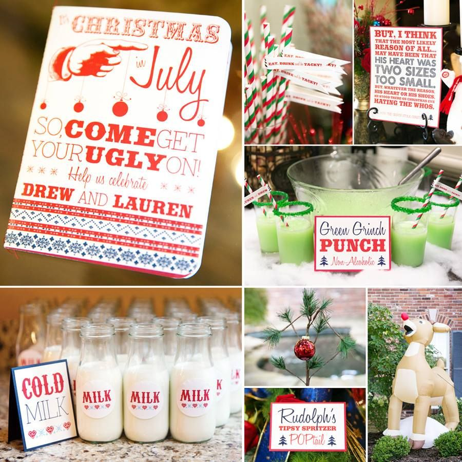 Christmas Engagement Party Ideas Part - 20: Tacky Christmas Engagement Party