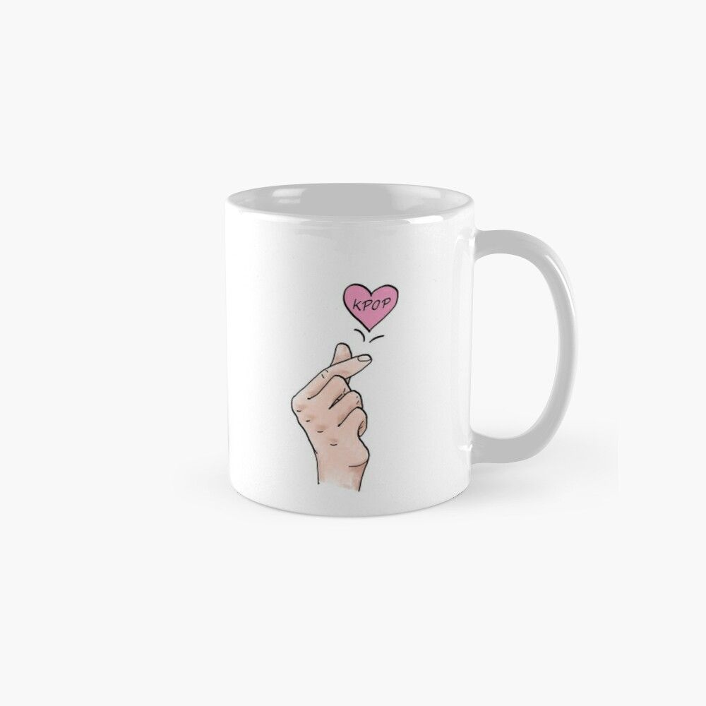 I Heart Kpop Kpop Finger Heart Digital Painted Finger Hearts For All Kpop Lovers Mug By Multifandomfan Mugs Finger Heart My Heart
