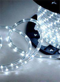 Cool White 6 6 Ft 110v 120v 2 Wire 1 2 Led Rope Light Christmas