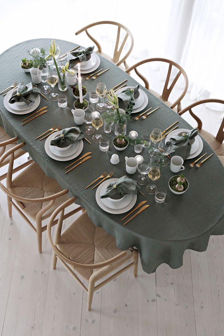 Round Up Gold Christmas Table Decor Blue Table Settings Table Decorations Table Settings
