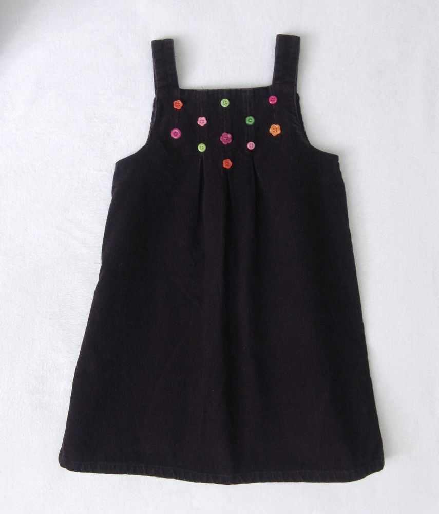 Girls gymboree all about buttons plum purple corduroy jumper dress