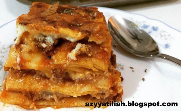 Resepi Lasagna Mudah Ringkas Azyyati Liah Makanan Lasagna Iftar