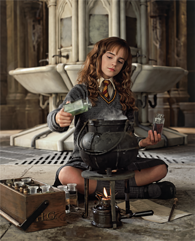 Image result for hermione granger mixing potions