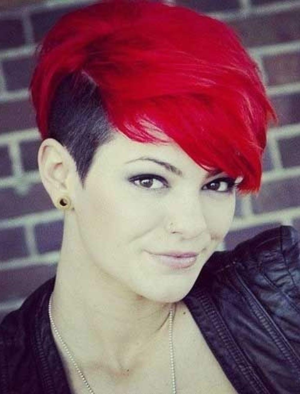 Frauen haare rote kurze Kurze Braun