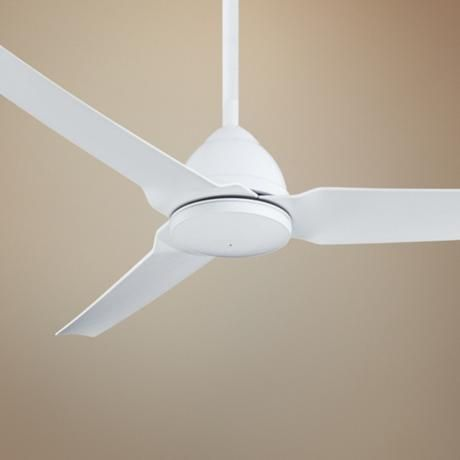 54 Minka Aire Java Flat White Indoor Outdoor Ceiling Fan X0004