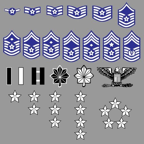 SET -2 PATCHES -SEE STORE USAF PATCHES SENIOR MASTER SERGEANT NEW