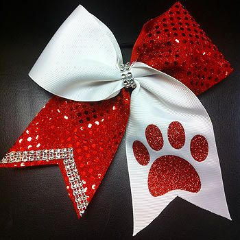 Cheer Competition Bow with Paw