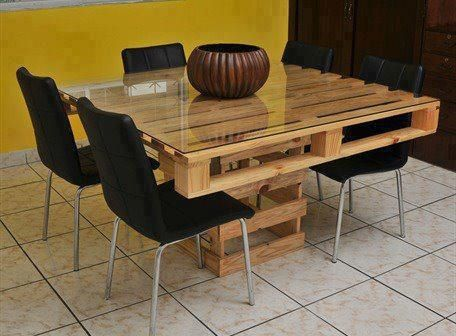 Make Your Own Kitchen Table Out Of Pallets Pallet Dining Table