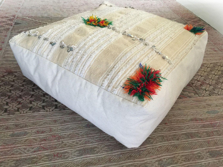 Floor Pillows And Poufs Moroccan Pouf 11 Vintage Berber Pouf Bohemian Floor Pillow