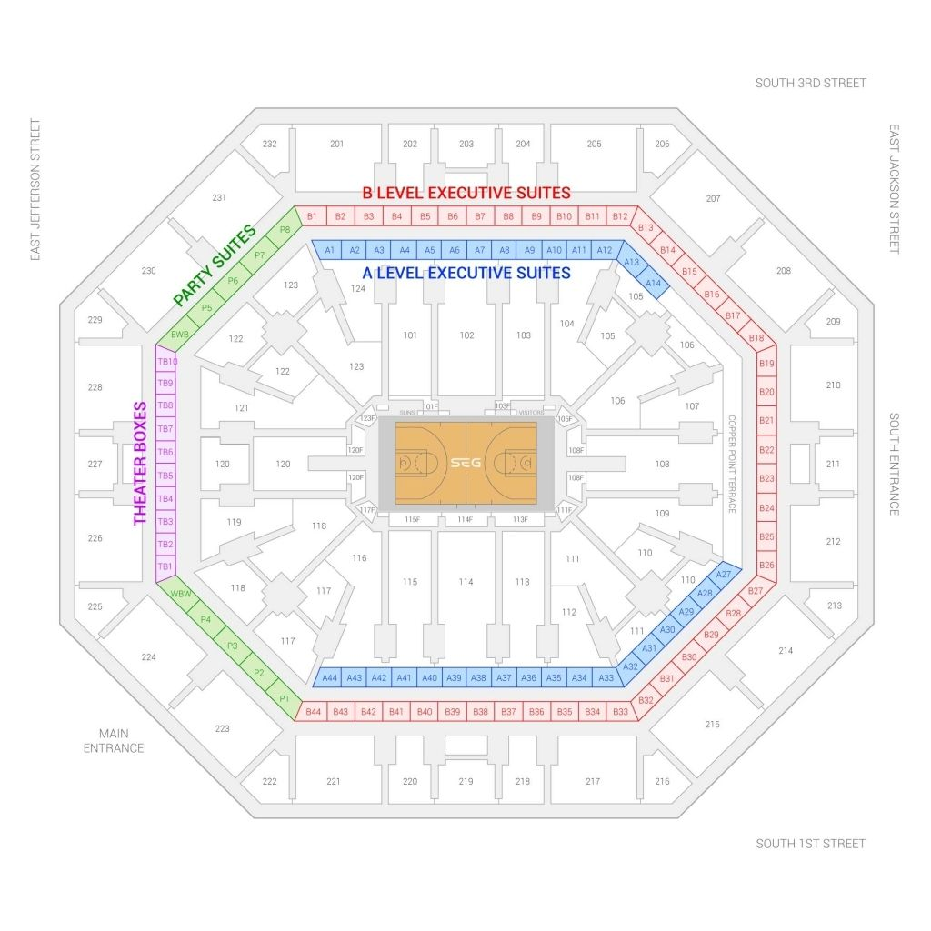 Talking Stick Arena Seating Chart With Seat Numbers