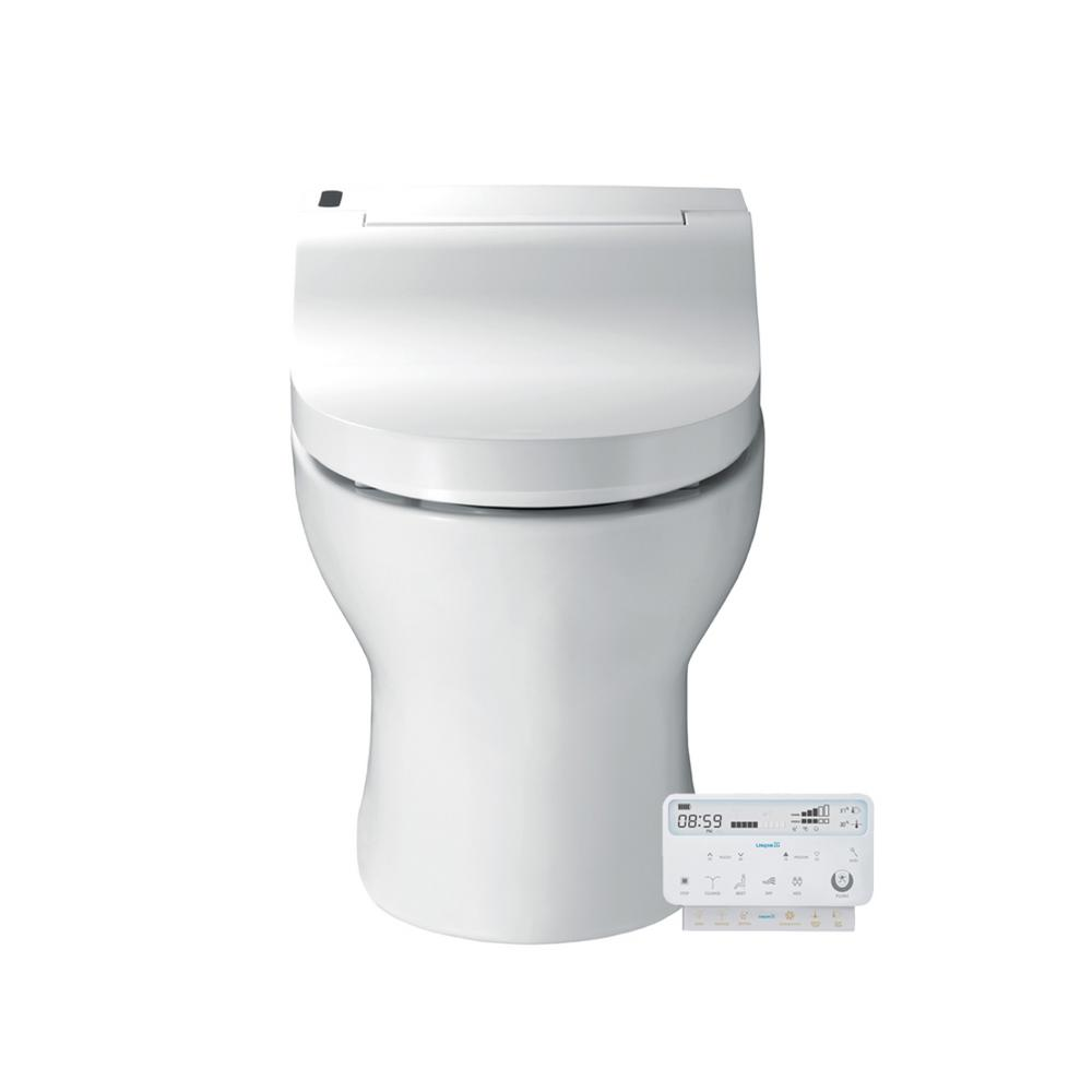 Fully Integrated Elongated Luxury Toilet With Bidet Functions In