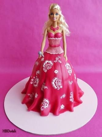 doll cake pink - Google Search