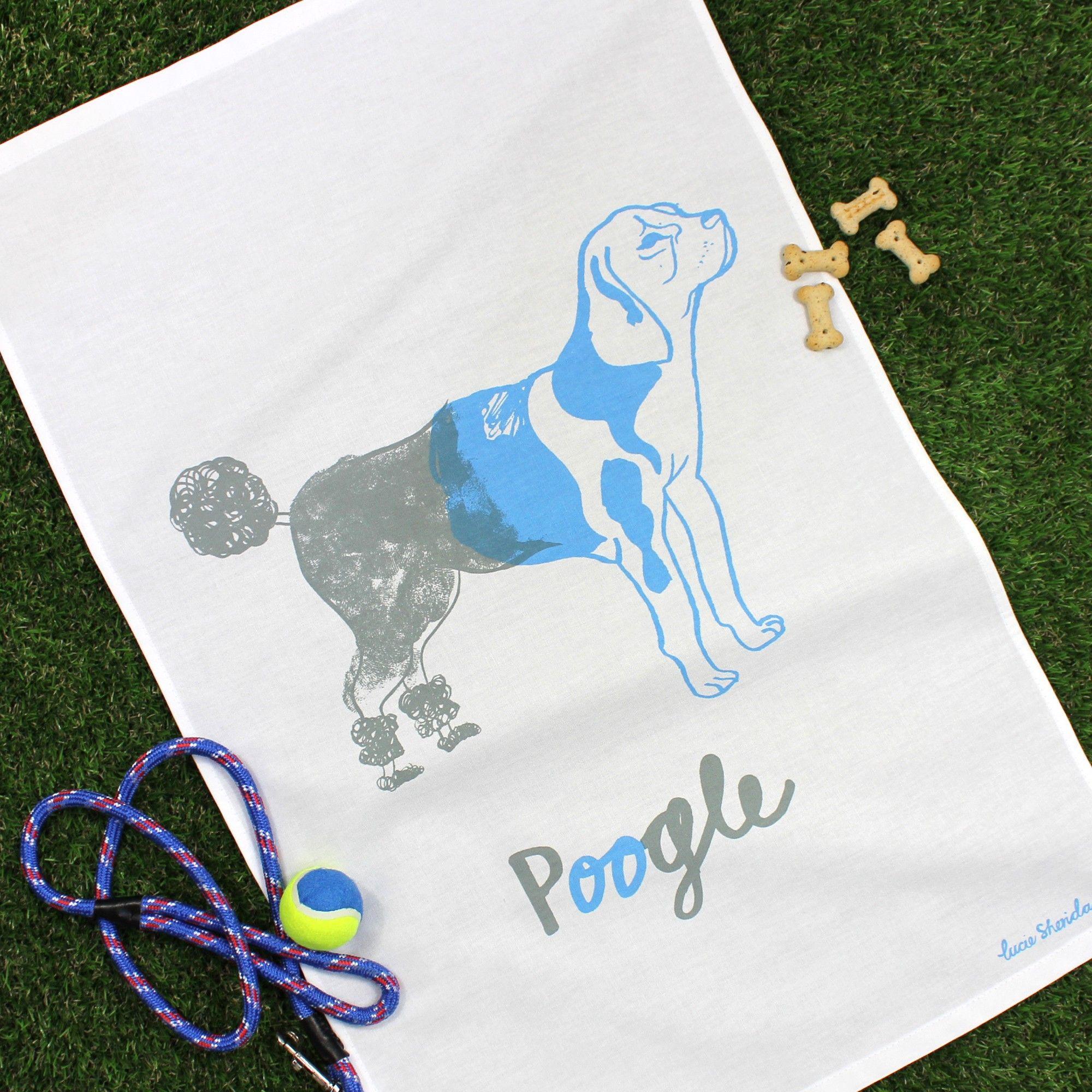 Poogle Tea Towel  #teatowel #poogle #beagle #poodle
