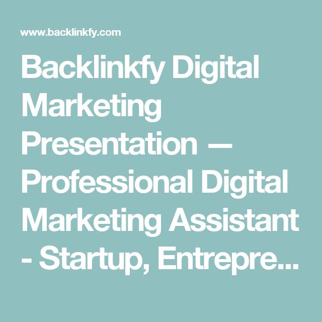 Backlinkfy Digital Marketing Presentation  Professional Digital
