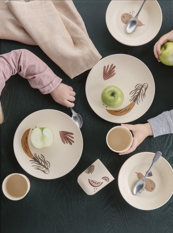 Bamboo Dinner Set Ferm Living Kids Dinnerware Bamboo Tableware Ferm Living Kids
