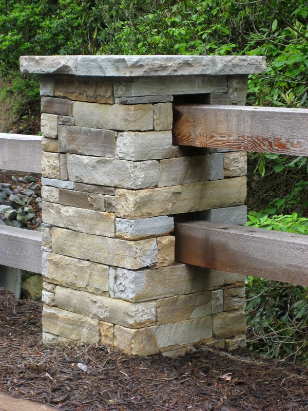Residential Stone Columns : Image detail for western north carolina masons and