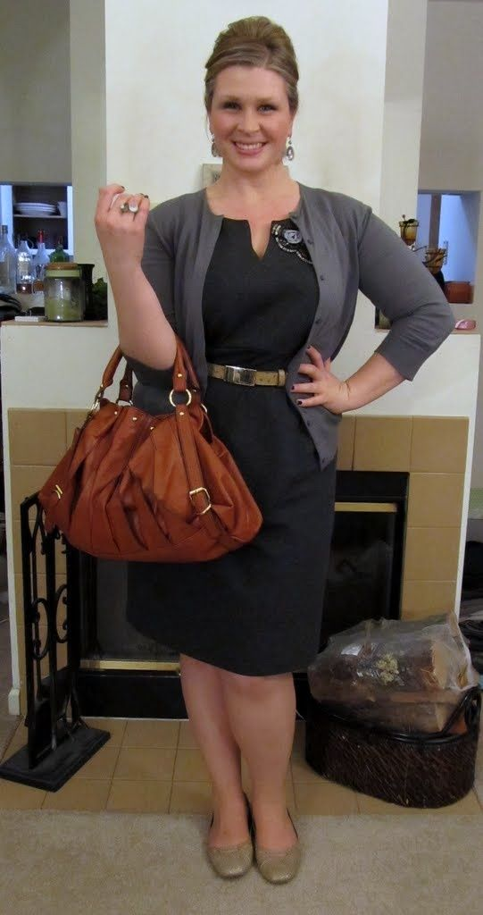 Work outfit shift dress with cardigan Vêtements grande