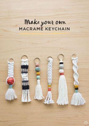 Anleitung: DIY-Schlüsselanhänger mit Quaste und Macramé #macrame