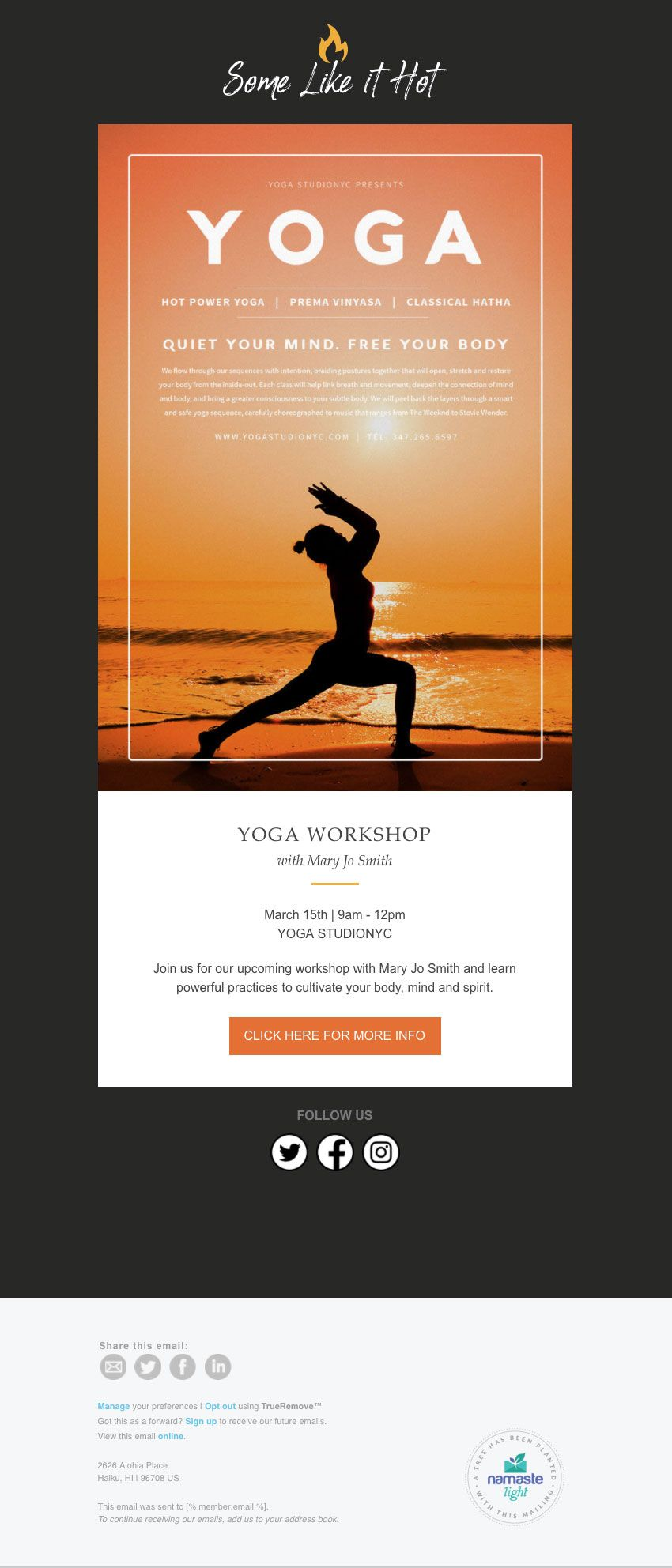Promotional Email Template Designed For Yoga And Wellness - Promotional email template