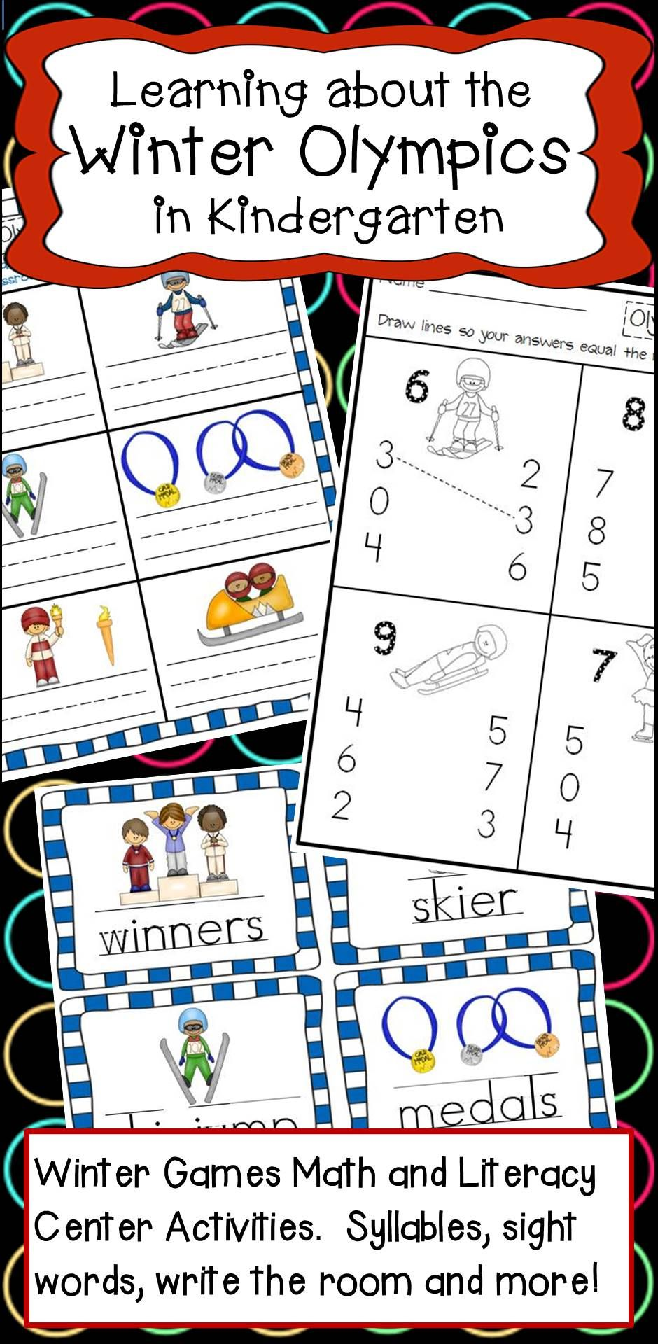 Kindergarten learning about the winter olympics math and literacy kindergarten learning about the winter olympics math and literacy activities buycottarizona Image collections